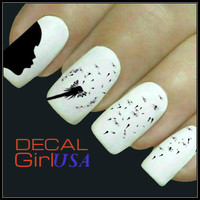 Dandelion Nail Art Decals 32 Water Slide