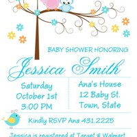10 Happi Tree Owl Boy Baby Shower Invitations