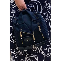 Connie Collared Jacket Backpack Purse