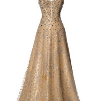 KC131506 Gold Jeweled Ballgown Prom Dress by Kari Chang Couture