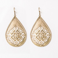 Golden Ornament Earrings
