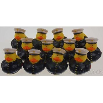 US Military Marines Rubber Ducks Lot 12 Duckie Party Favors Cake Topper Dozen