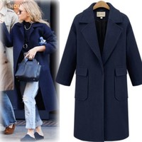 Casual With Pocket Thicken Coat [191077220378]
