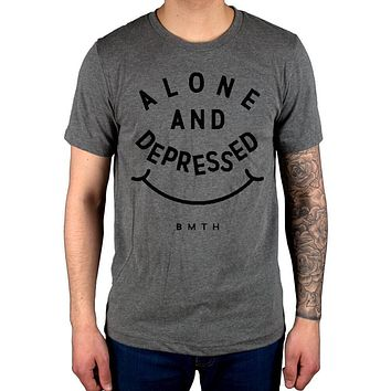 Official Bring Me The Horizon Alone Depressed New Mens T Shirt Merch Diamond|T-Shirts