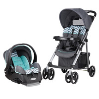 Evenflo Vive Travel System Stroller with Embrace Infant Car Seat - Spearmint Spree