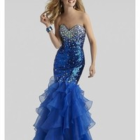 Clarisse 2014 Red and Blue Sequins Prom Dress 2304   Promgirl.net