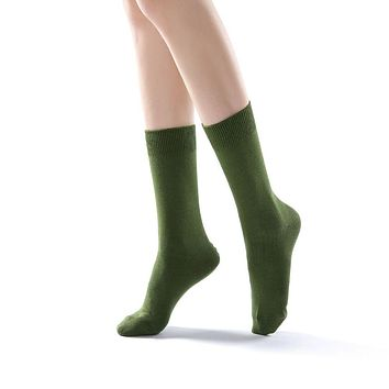Eva Essential Crew Sock | Green