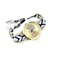 Gold Elephant Watch with Aztec Band