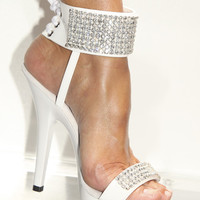 Swarovski Rhinestone 8 Row  Ankle Cuff Shoes
