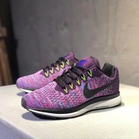 """""""Nike Air Zoom Pegasus 33"""" Women Sport Casual Fashion Multicolor Knit Running Shoes Sneakers"""