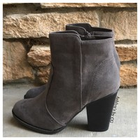 Style And Flare Always Faithful Grey Heel Bootie Boots