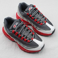 Nike Air Max 95 Child Shoes Grey White Red Toddler Kid Shoes