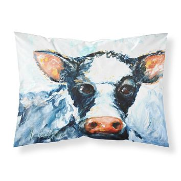 Cow Lick Black and White Cow Fabric Standard Pillowcase MW1273PILLOWCASE