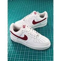Nike Air Force 1 Low Af1 07 White Red Sport Shoes