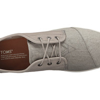 TOMS Paseo Dark Grey Leather/Washed Canvas - Zappos.com Free Shipping BOTH Ways