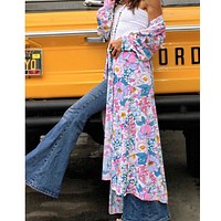 Floral 1970s Duster Robe