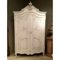 NEW! Delphine Distressed Shabby Chic Armoire