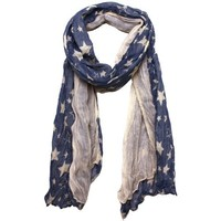 Stars and Stripes Americana Blue Jeans Inspired Scarf by Bucasi