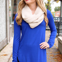 The Perfect Long-Sleeved Tunic - Royal