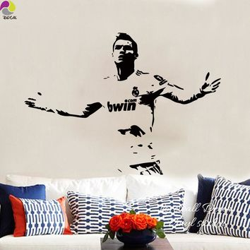 Cristiano Ronaldo Football Player Wall Sticker Bedroom Boys Room Soccer Sport Athlete Wall Decal Living Room Vinyl Home Decor