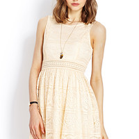 FOREVER 21 Lady in Lace Dress Beige