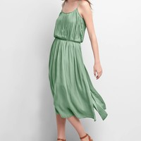 Drapey pleated midi dress | Gap