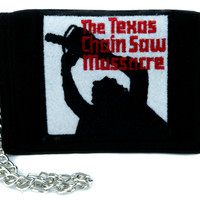 Leatherface The Texas Chainsaw Massacre Tri-fold Wallet with Chain Alternative Clothing