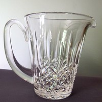 Signed Waterford Hand Cut glass KENMARE Jug Pitcher
