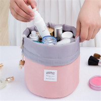 Barrel Shaped Make up Organizer Bag Men Casual Travel Bag Multi Functional Women Cosmetic Bags Storage Bag in bag Makeup Handbag