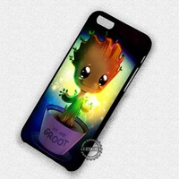 We Are Groot The Guardian of The Galaxy Chibi - iPhone 7 6 Plus 5c 5s SE Cases & Covers