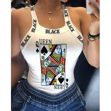 Queen Card Vest T-Shirt