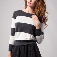 Rugby Striped Sweater Top