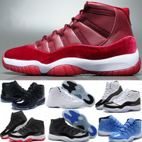 Retros 11 XI 11S Basketball Shoes Sneakers Men Women Red Retro 11 XI Sports Shoes High Quality Man 11S Bred Georgetown Space Jam Citrus GS