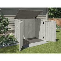 Shop Suncast Vanilla Resin Outdoor Storage Shed (Common: 53-in x 32.25-in; Interior Dimensions: 49-in x 28.25-in) at Lowe's