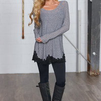 Happily Ever After Tunic - Charcoal
