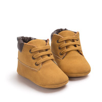 Lace Ups-Brown Baby Booties