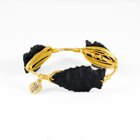 Bourbon and Boweties Black Arrowhead Bracelet - 7 1/2""