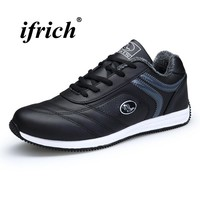 Man Running Shoes Winter Warm Walking Shoes Man Black Man Sneakers for Sport Rubber Bottom Trainers Non Slip Tracking Shoes