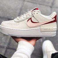 Nike Air Force 1 all white mid-top casual sneakers Shoes