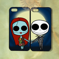 Sally and Jack Couple Case-iPhone 5, iphone 4s, iphone 4 case, ipod 5, Samsung GS3-Silicone Rubber or Hard Plastic Case, Phone cover