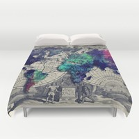 Map of the world Duvet Cover by Jbjart