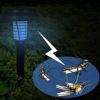 Hot Sale Led Solar Light Outdoor LED Yard Garden Lawn Anti Mosquito Insect Pest Bug Zapper Killer Trapping Lantern Solar Light