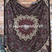 Large Hippie Tapestry, Hippy Mandala Bohemian Tapestries, Indian Dorm Decor, Wall Hanging Ethnic Urban Tapestry