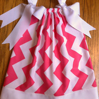 Pillowcase Dress, Girls Cotton Dress, Chevron Dress, Summer Dress That Will Grow with Your Child