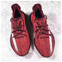 Adidas Yeezy Boost 350 V2 Trending Running Sports Shoes Sneakers -Wine Red