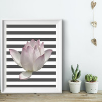 Flower Wall Art, Home Decor Ideas, Unframed