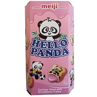 Hello Panda Biscuits with Strawberry Cream 2oz