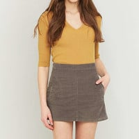 Urban Outfitters Summer Grey Corduroy A-line Skirt - Urban Outfitters