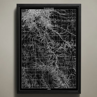 Map Print, CLEVELAND