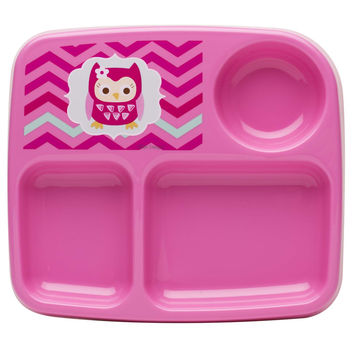 Pink Owl Toddler Eating Set-Sippy Cup, Flatware, Plate, Cereal Bowl